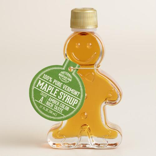 Gingerbread Man Maple Syrup Mini Bottle