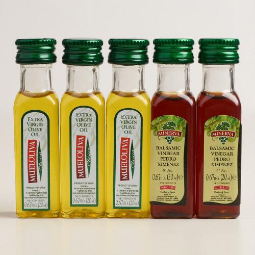 Extra Virgin Olive Oil and Vinegar, 5-Pack