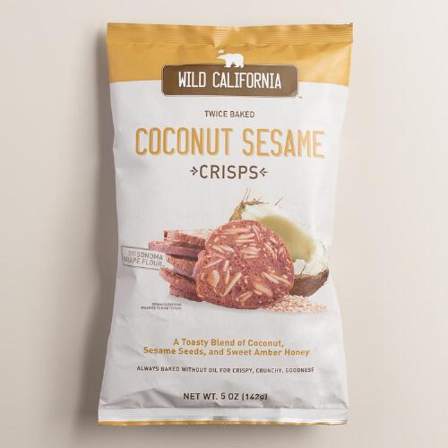 Wild California Coconut Sesame Crisps