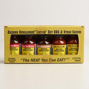 Arizona Pepper Gunslinger Assorted BBQ & Steak Sauces 5 Pack