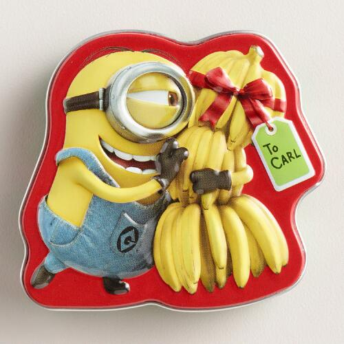 Boston Minions Carls Banana Candy Tin