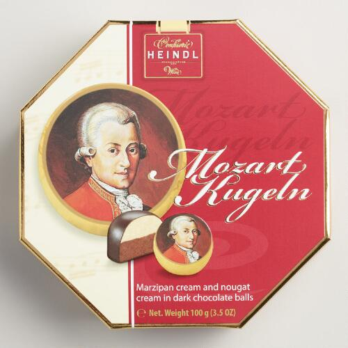 Heindl Mozart Chocolates in Octagon Box, 7 Piece