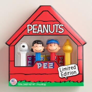 Peanuts Pez Dispenser and Candy, Set of 4
