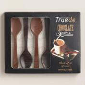 Truede Dark Chocolate and Milk Chocolate Spoons, 6 Pack