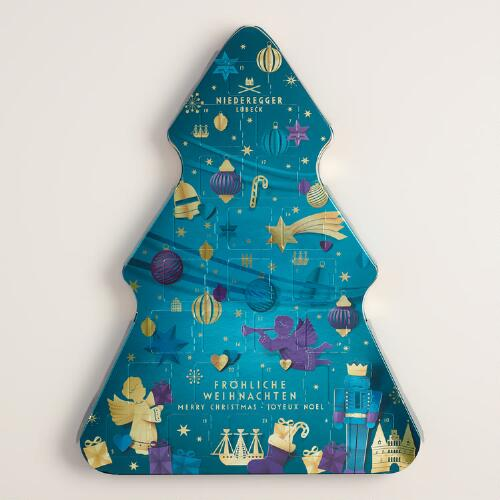 Niederegger Advent Tree with Marzipan Liqueur Chocolates