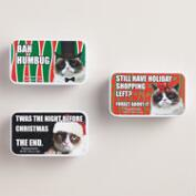 Christmas Grumpy Cat Candy Tin, Set of 3