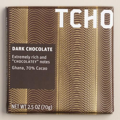 TCHO 70% Dark Chocolate Bars, Set of 2