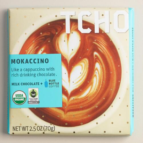 TCHO Nutty 65% Dark Chocolate Bars, Set of 2