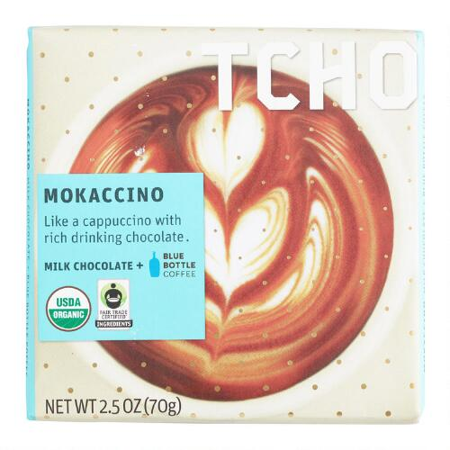 TCHO Mokaccino Milk Chocolate Bars, Set of 2