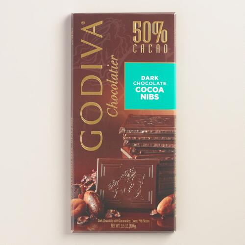 Godiva Cacao Nibs Dark Chocolate Bar