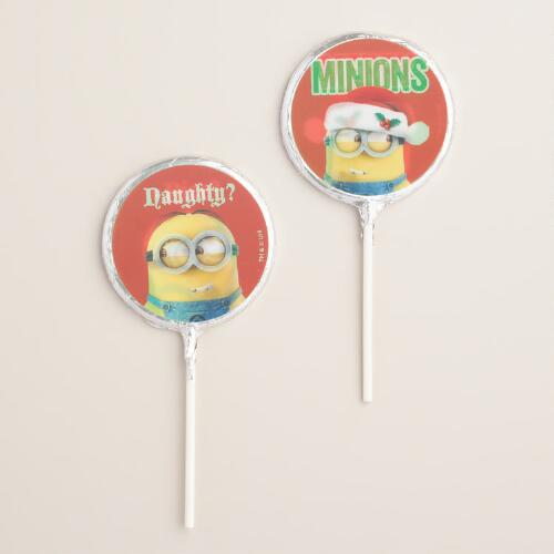 Treat Holiday Minions Milk Chocolate Pops, Set of 2