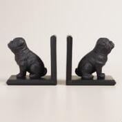 Espresso Bulldog Bookends, 2-Piece