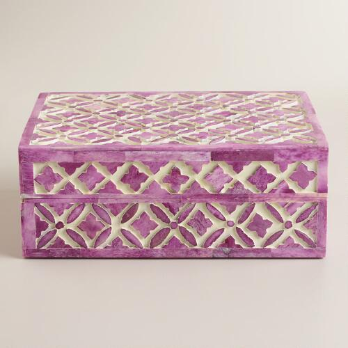 Lavender Bone Alexis Jewelry Box