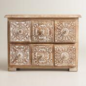 Carved Diana 6-Drawer Jewelry Box