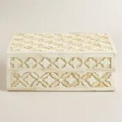 Ivory Bone Alexis Jewelry Box