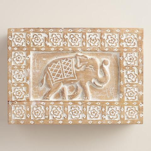 Carved Elephant Jewelry Box World Market