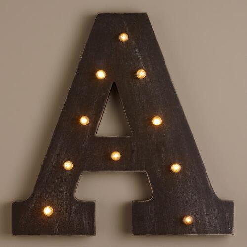 Letter A LED Battery Operated Marquee Light