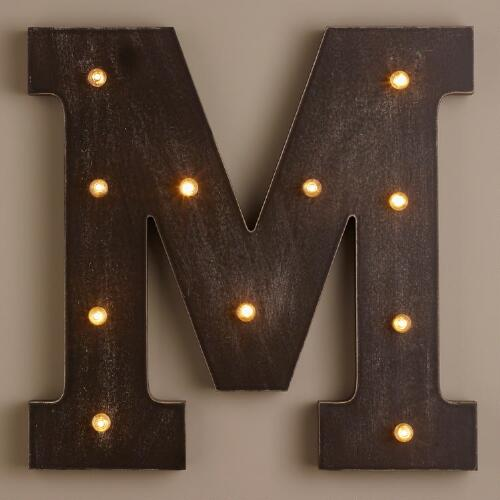 Letter M LED Battery Operated Marquee Light
