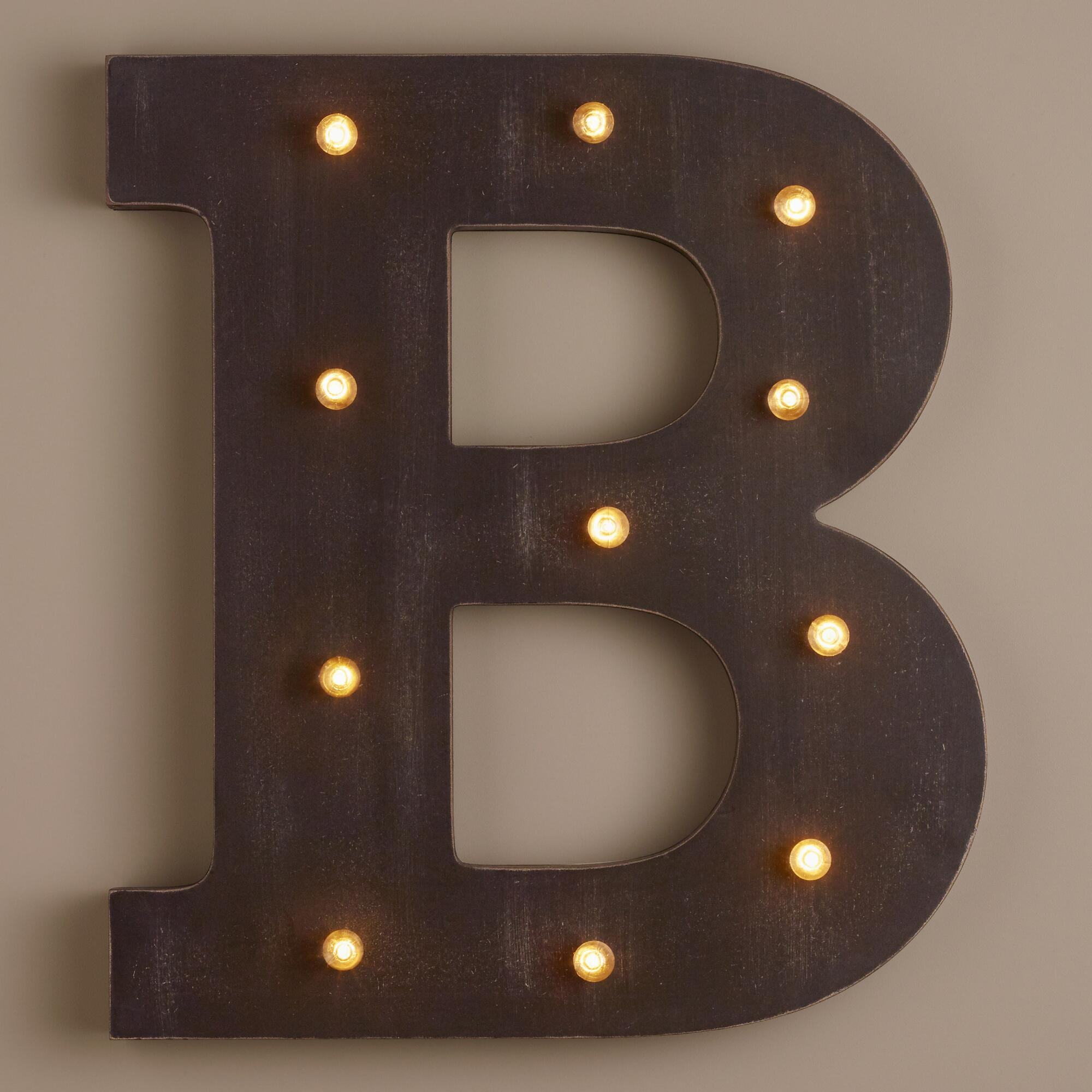 Letter b led battery operated marquee light world market for B marquee letter