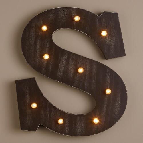 Letter S LED Battery Operated Marquee Light