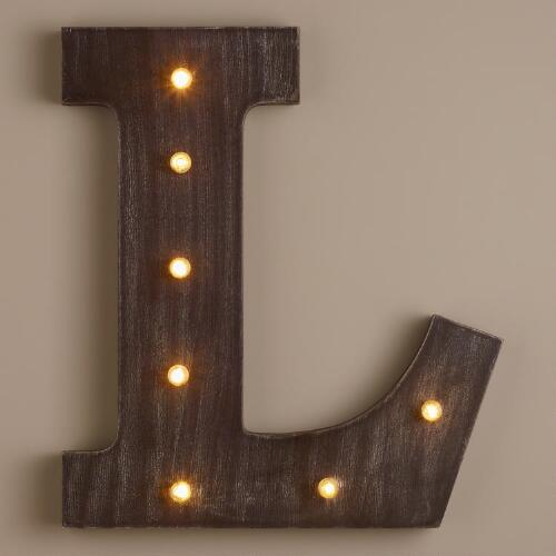 Letter L LED Battery Operated Marquee Light