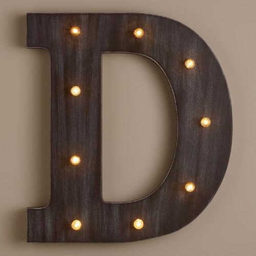Letter D LED Battery Operated Marquee Light
