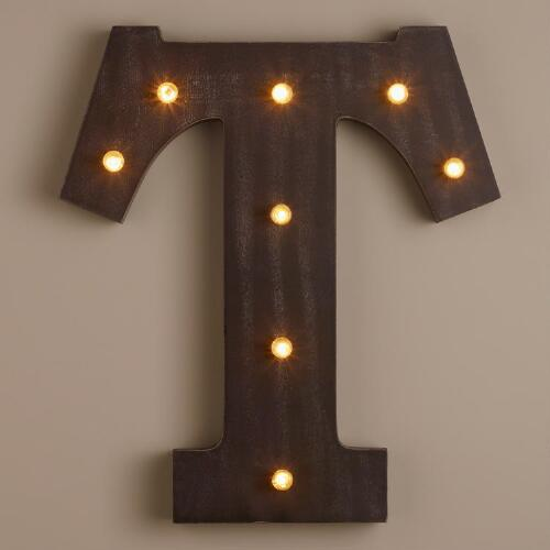 Letter T LED Battery Operated Marquee Light