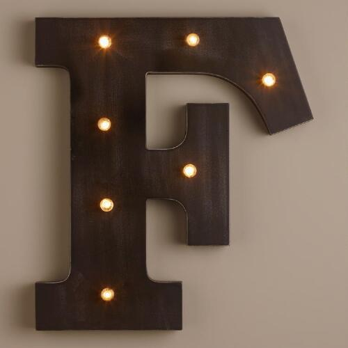 Letter F LED Battery Operated Marquee Light