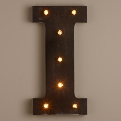 Letter I LED Battery Operated Marquee Light