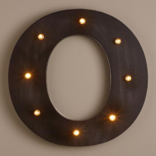 Letter O LED Battery Operated Marquee Light