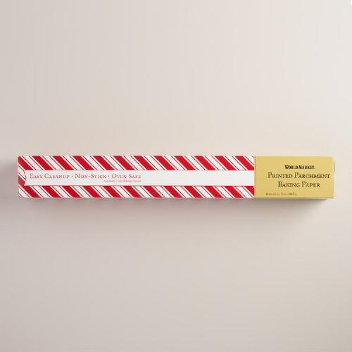 Red Stripe Parchment Paper Roll