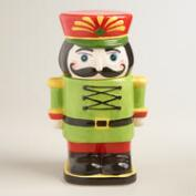 Ceramic Nutcracker Cookie Jar