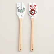 Holiday Ornament Silicone Spatulas, Set of 2