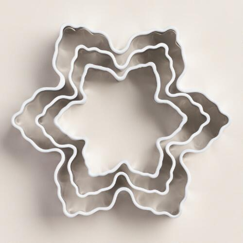 Snowflake Cookie Cutters, 3-Pack