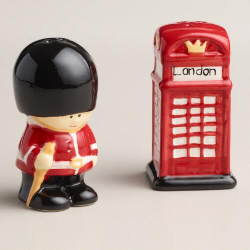 Guard and Phone Booth Salt and Pepper Shaker Set