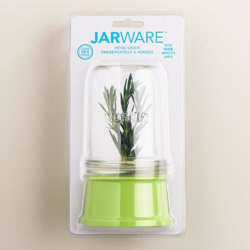 Jarware Wide-Mouth Mason Jar Herb Saver