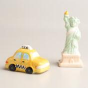 Statue of Liberty and Taxi Salt and Pepper Shaker Set