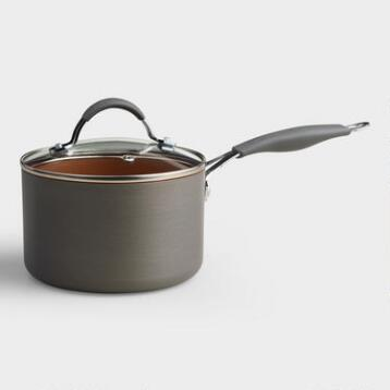 Halo Copper Nonstick Saucepan