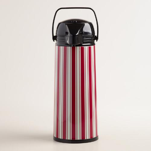 Red and White Stripe Hot Drink Dispenser