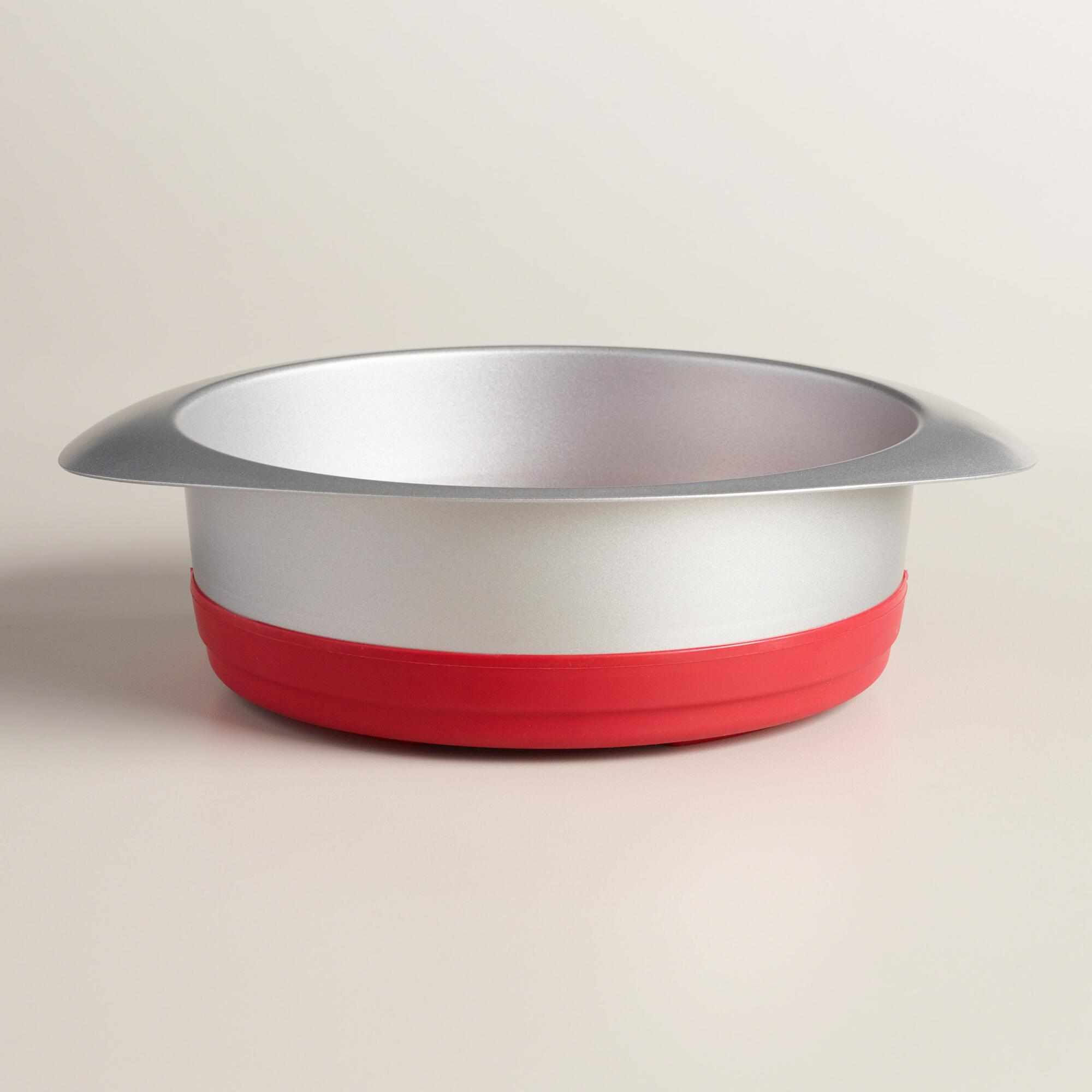 World Market Steel and Silicone Pop Out Cake Pan