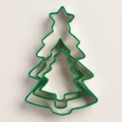 Evergreen Tree Cookie Cutters, Set of 3