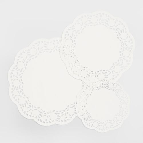 Assorted White Paper Doilies, 30-Count
