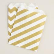 24-Count Gold Metallic Favor Bags, Set of 2