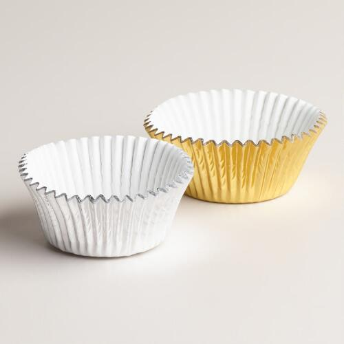 50-Count Gold and Silver Foil Baking Cups, Set of 2