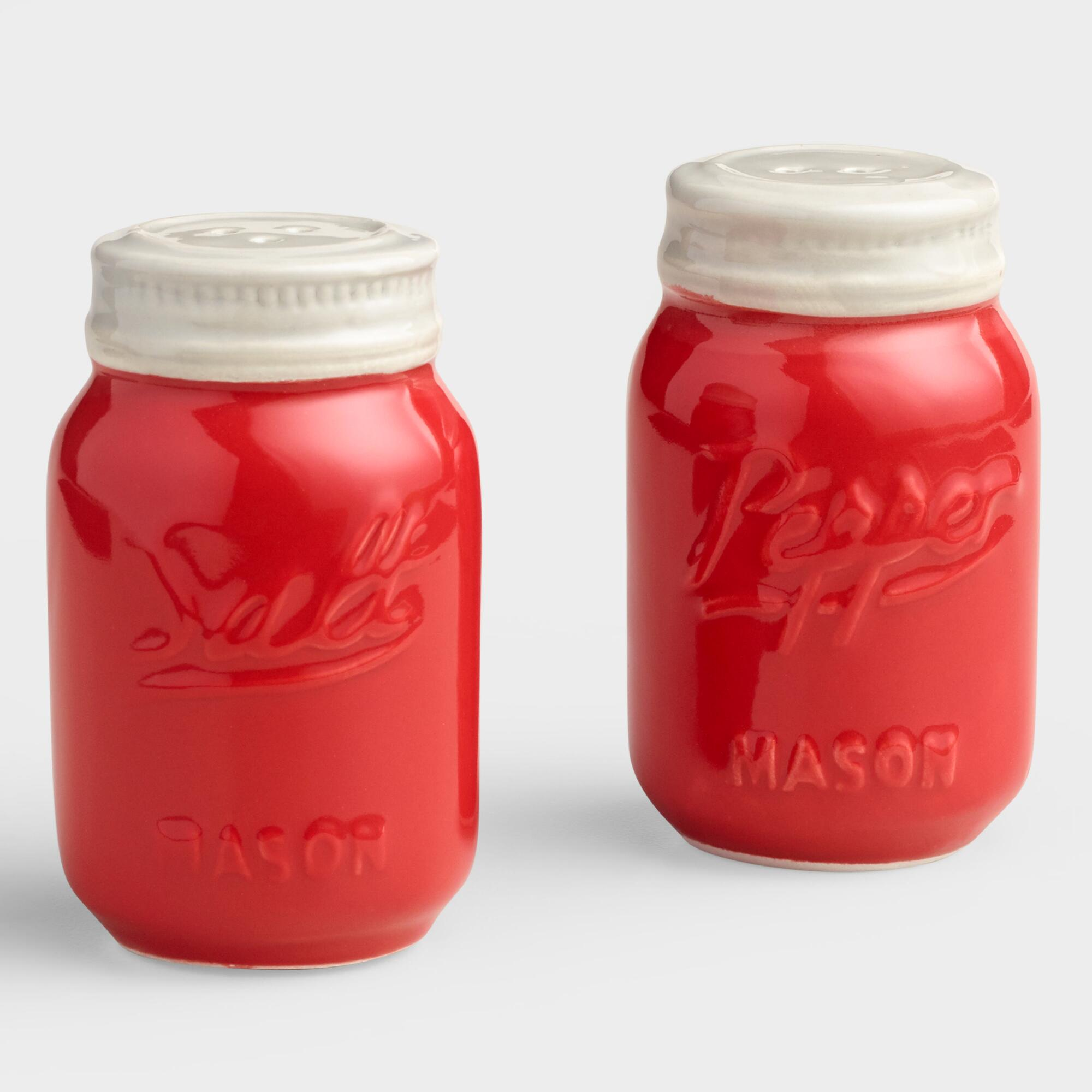 Red Mason Jar Salt And Pepper Shaker World Market