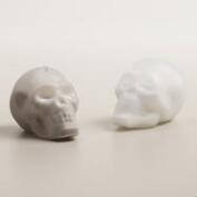 Doomed Glass Skull Salt and Pepper Shaker Set