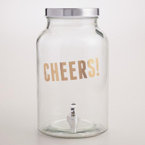 """Cheers!"" Glass Drink Dispenser"