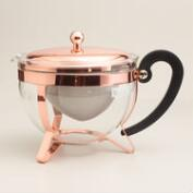 Copper Bodum Infuser Teapot with Glass Carafe