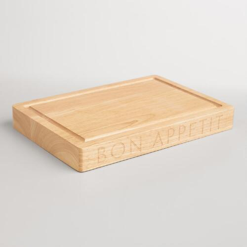 """Bon Appetit"" Wood Trencher Cutting Board"