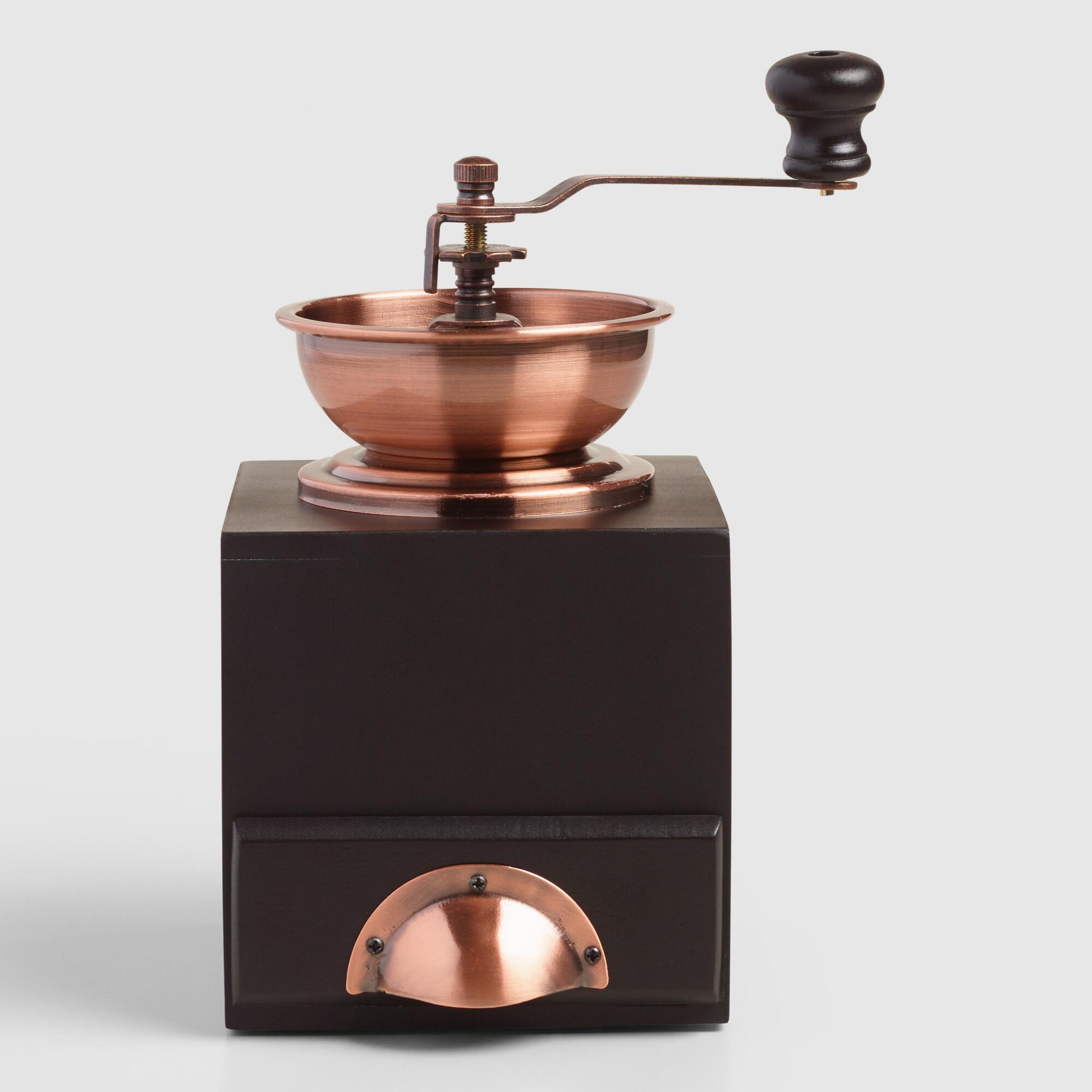 Old Coffee Grinders ~ Copper vintage style burr coffee grinder world market